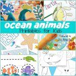 Sweet Ocean Animal Printables