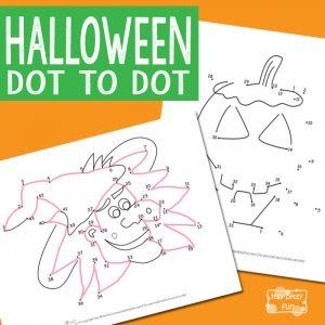 Halloween dot to dot printables