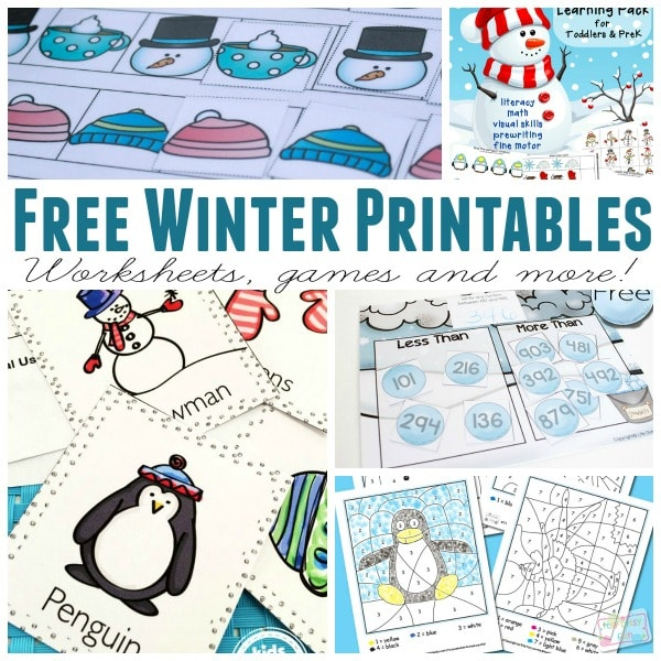 Learning Winter Printables