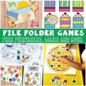 Free File Folder Games for Kids