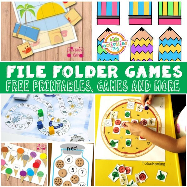 Free File Folder Games for Kids