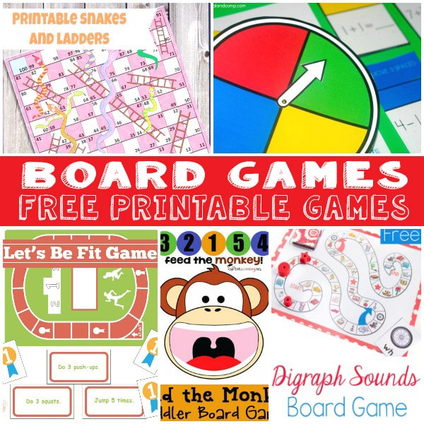 Fun and Free Printable Board Games - Itsy Bitsy Fun