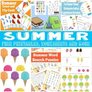 A Bunch of Summer Free Printables