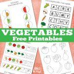 Free printable vegetable worksheets
