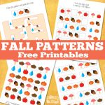 Fall Themed Pattern Recognition Printables