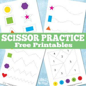 Fun Scissor Practice Printables