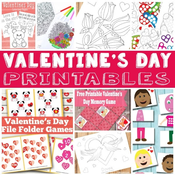 Valentines Day Fun Printables for Kids
