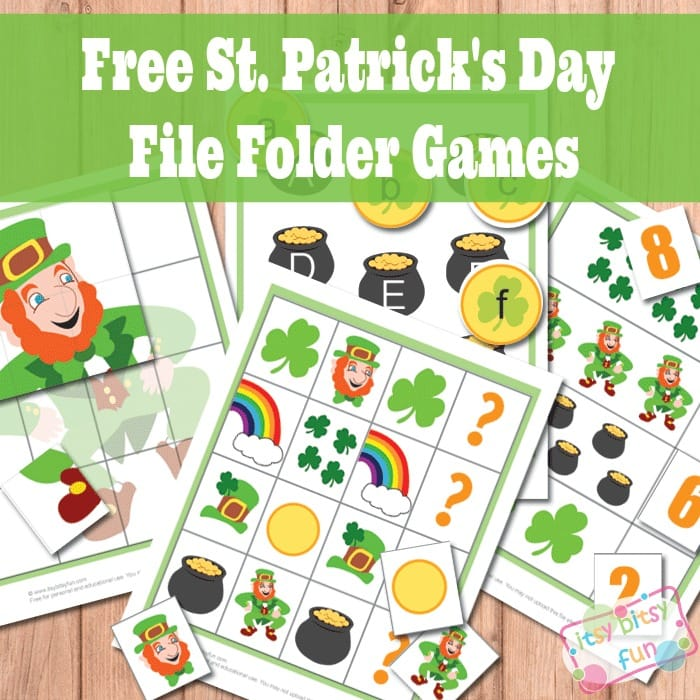 St. Patrick's Day File Folder Games