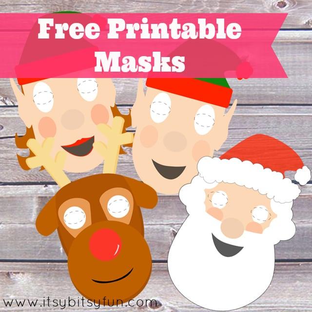 Free Printable Christmas Masks
