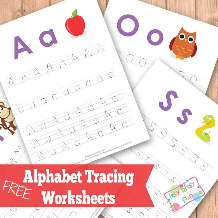 Alphabet Tracing Worksheets ABC