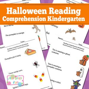 Halloween Reading Comprehension Worksheets for Kindergarten