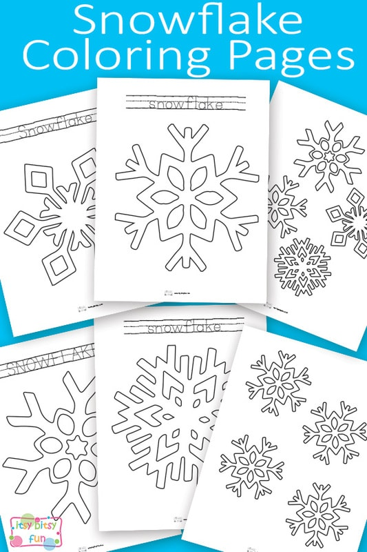 Snowflake Coloring Pages - Itsy Bitsy Fun