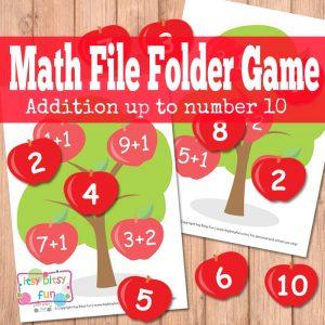 Math File Folder Game