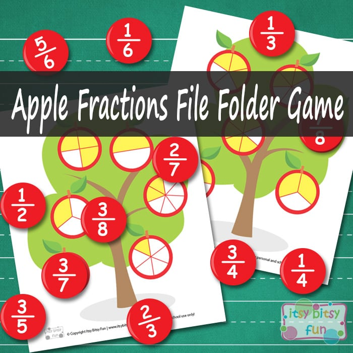 Math File Folder Games - Fractions