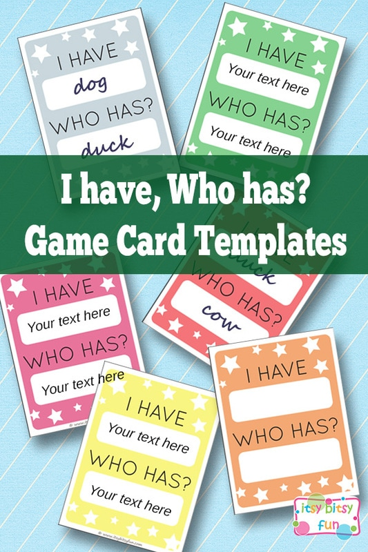 I Have Who Has Free Printable Template