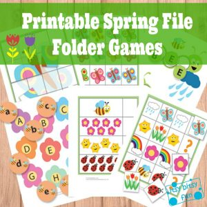 Printable Spring File Folder Games