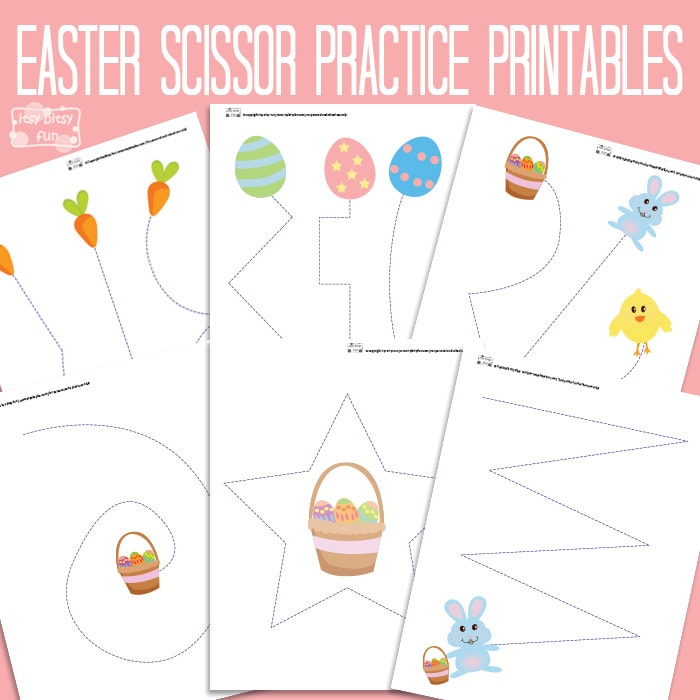 Easter Cutting Practice Worksheet for Kids