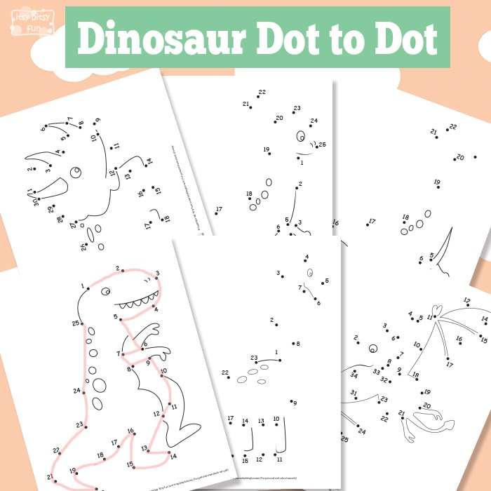 Dinosaur Dot to Dot Printable for Kids