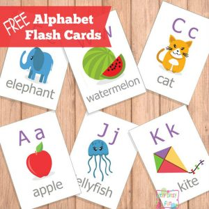 Alphabet Flash Cards for Letter Learning