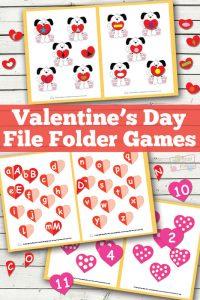 Valentines Day File Folder Game