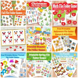 Free Printable File Folder Games