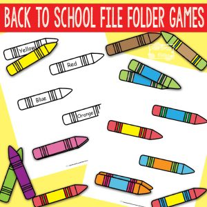 Back to School File Folder Games