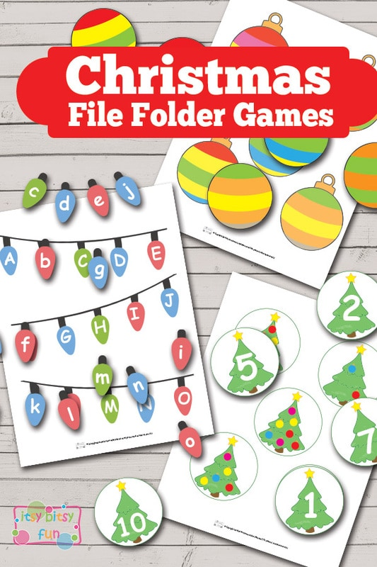 Christmas File Folder Games Itsy