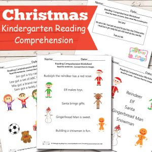 Christmas Reading Comprehension Worksheets for Kindergarten