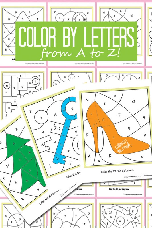 Printable Alphabet Color By Letters - Great Alphabet Worksheets