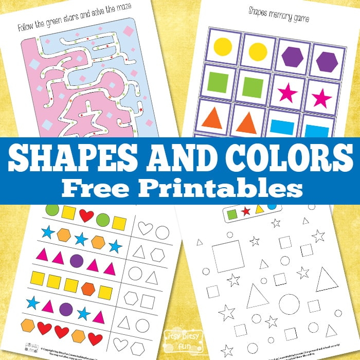 Learning Shapes and Colors Printables