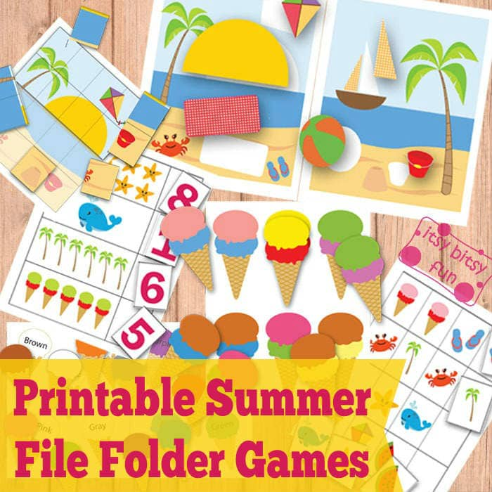 Free Summer File Folder Games for Kids