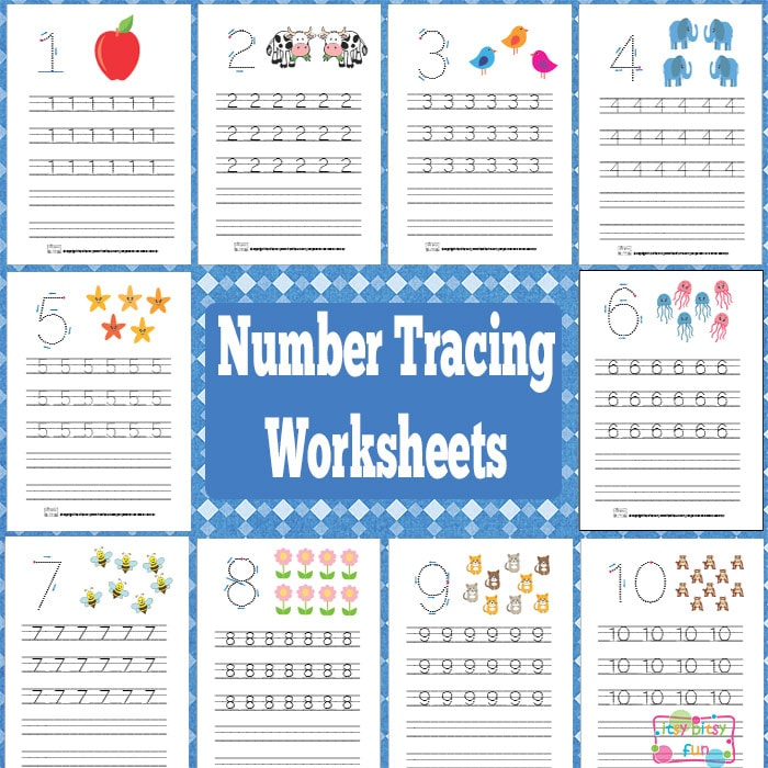 Get These Printable Number Tracing Worksheets