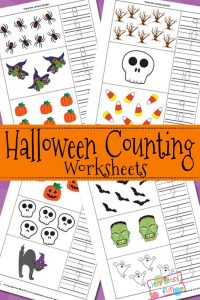 Halloween Counting Worksheets for Kids