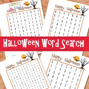 Halloween Word Search Puzzles fro Kids