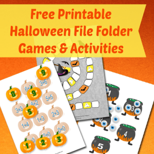 Halloween file folder games