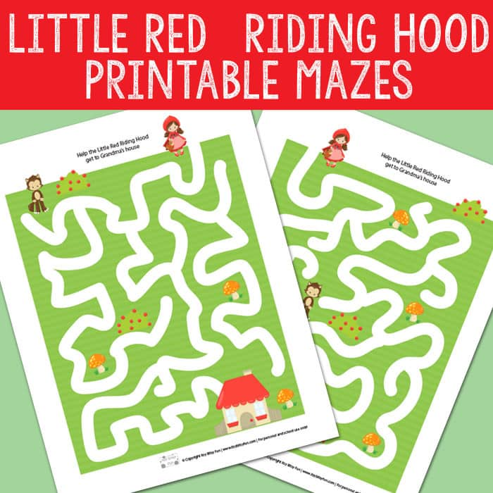 Little Red Riding Hood Mazes Itsy Bitsy Fun