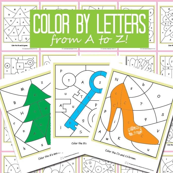 Color By Letters Alphabet Shapes