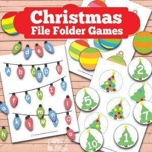 Printable Christmas File Folder Game