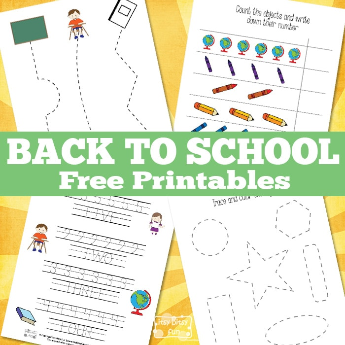 Simple back to school free printables