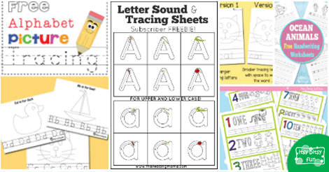Abc and number tracing worksheets itsy bitsy fun altavistaventures Image collections