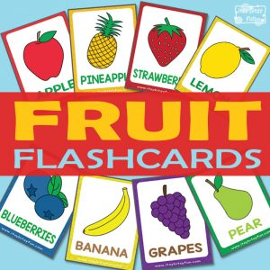 Free Fruit Flashcards