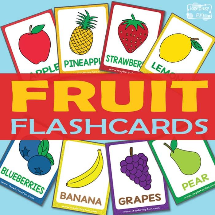 Free Fruit Flashcards