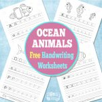 Free Ocean Animals Handwriting Worksheets