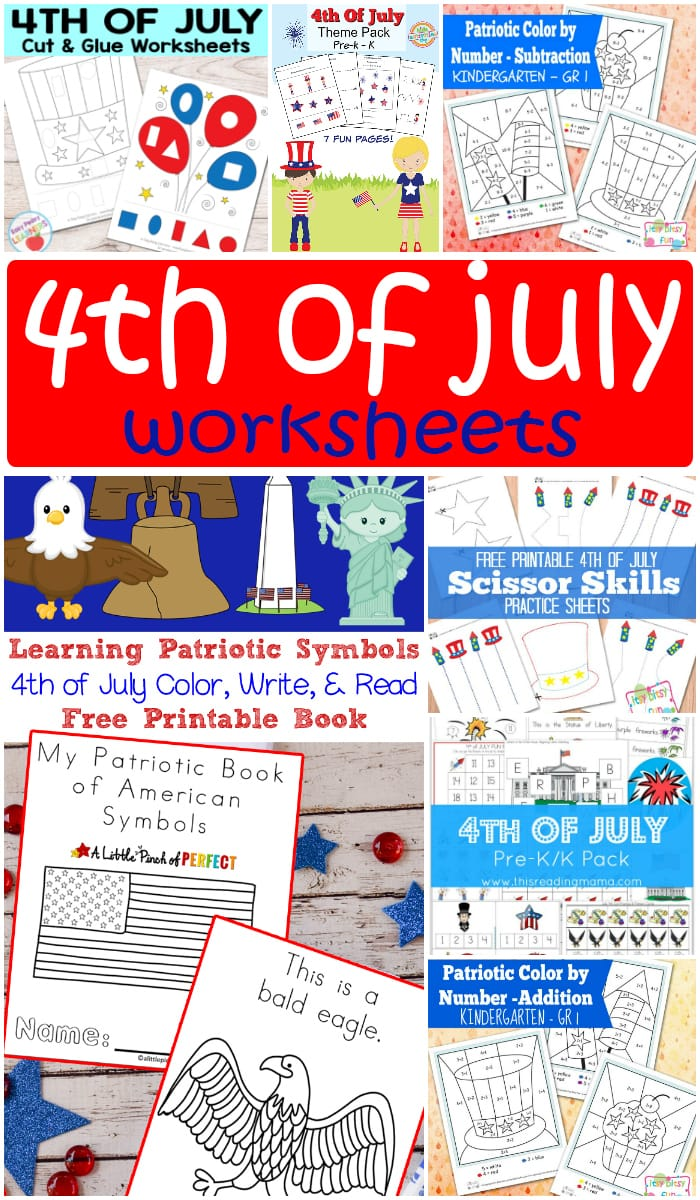 Free Printable 4th of July Worksheets for Kids