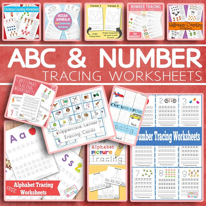 Lovely ABC and Number Tracing Worksheets