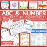 ABC and Number Tracing Worksheets