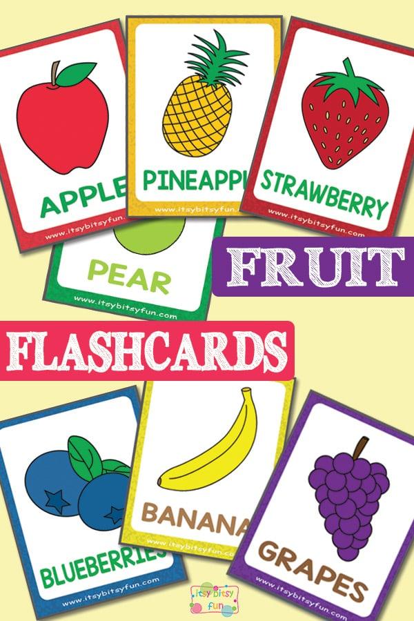 Lovely Free Fruit Flashcards