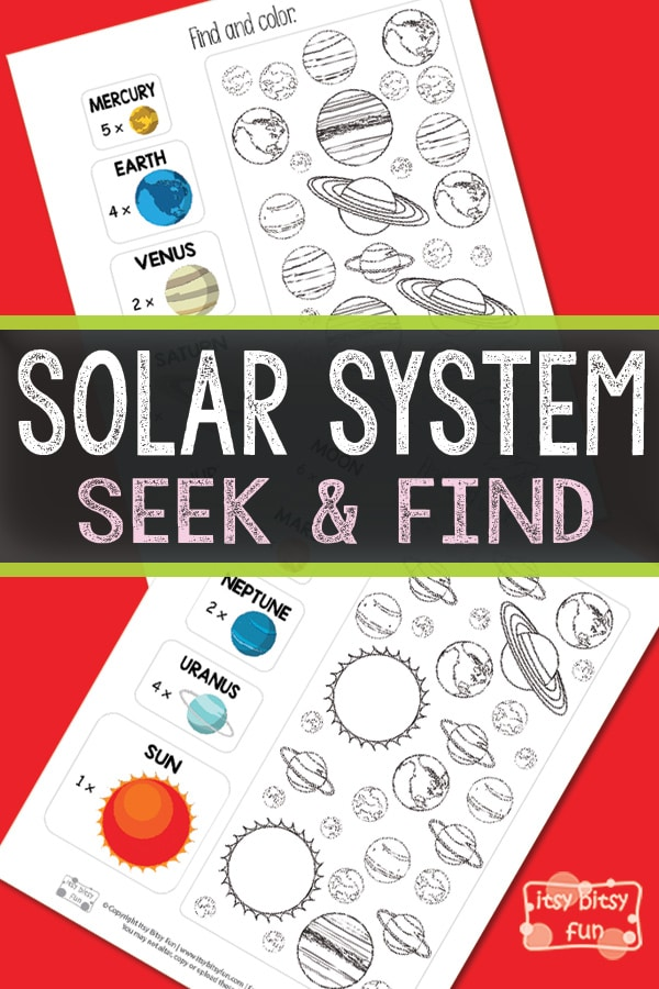 Free solar system seek and find printable