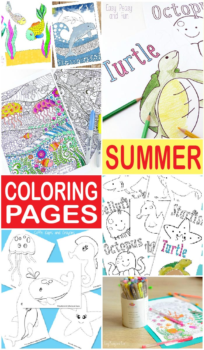 Lovely Summer Coloring Pages