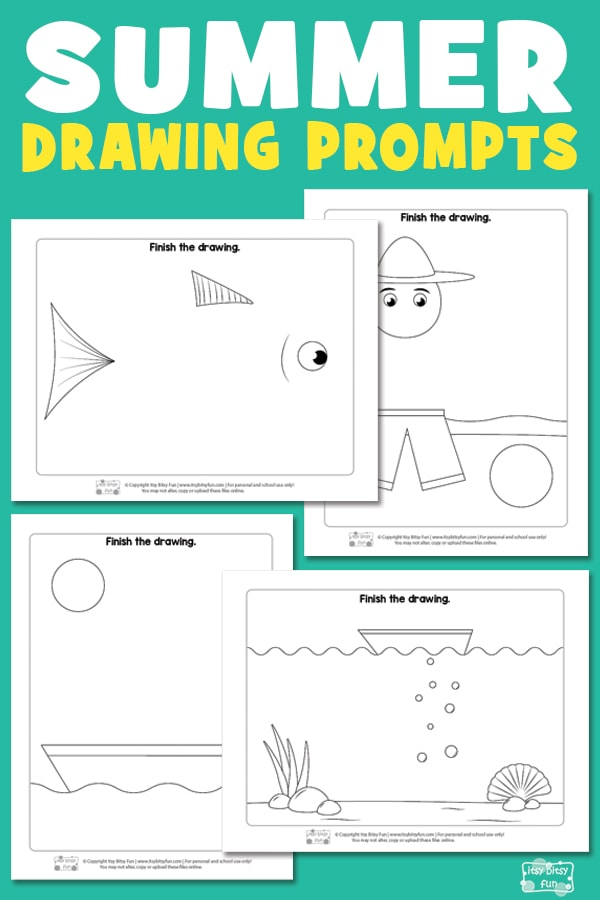 Free Printable Summer Drawing Prompts for Kids